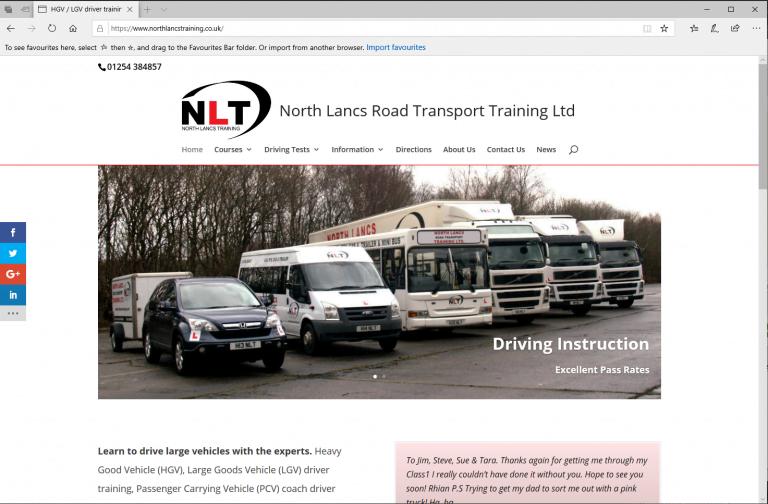 North Lancs Road Transport Training, Altham