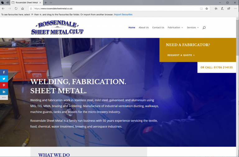 Rossendale Sheet Metal Co Ltd Waterfoot